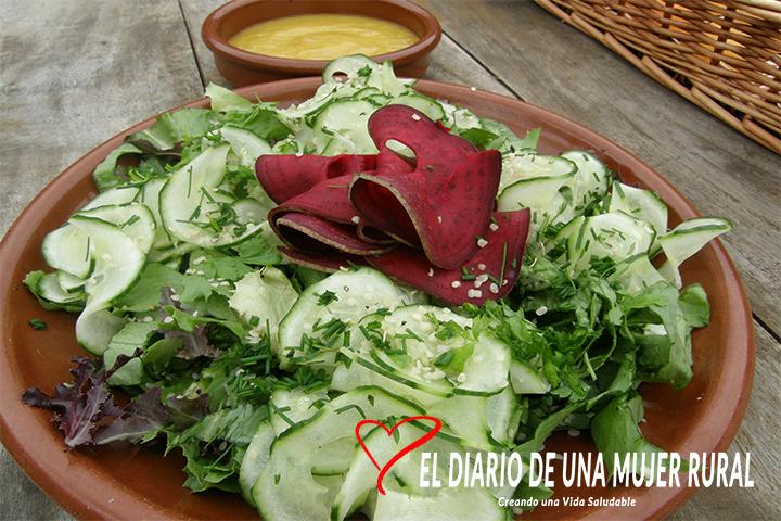 Ensalada con salsa de mango